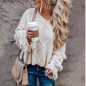 ⭐NEW ARRIVAL⭐ Gorgeous ivory knit sweater